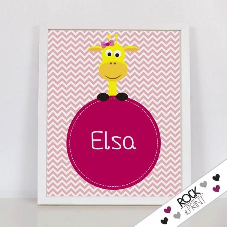 Ilustración personalizada jirafa