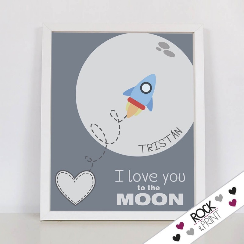 Decoración I love you to the moon