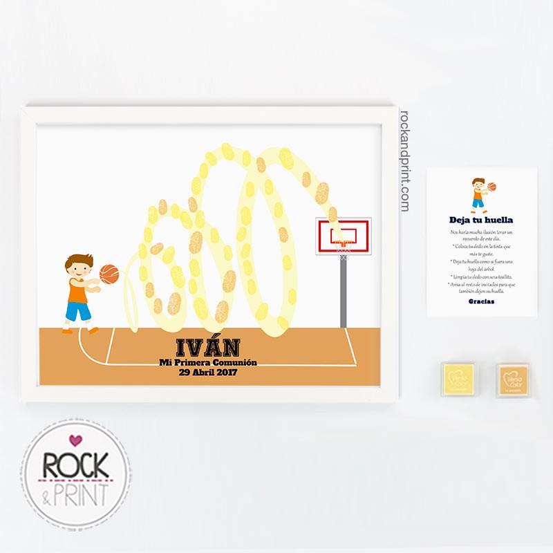 Cuadro de huellas baloncesto