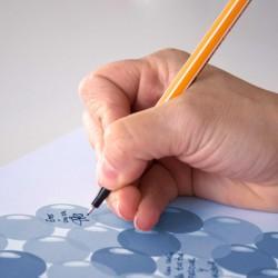 Cuadro firmas globos niño fondo color