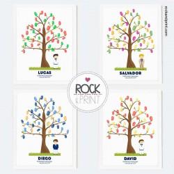 Árbol huellas - Comunión niño