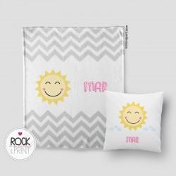 Pack manta + cojín Sol